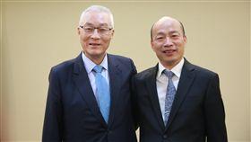 吳敦義,韓國瑜 圖/國民黨提供