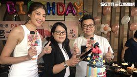 沈玉琳參加「築間幸福鍋物」4月壽星慶生 圖/築間幸福鍋物提供