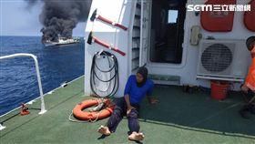 東噢,宜蘭,火燒船,船員,漁工,印尼,翻攝臉書海巡署艦隊分署