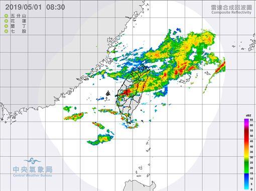現在雨下到哪?鄭明典用一張圖告訴你(圖/氣象局)