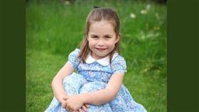 夏綠蒂公主過4歲生日(圖/翻攝自/KensingtonRoyal Twitter)
