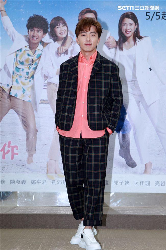 週日偶像劇「月村歡迎你」演員謝坤達。(記者邱榮吉/攝影)