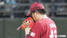 樂天金鷲台灣投手宋家豪。(圖/記者林士傑攝影)
