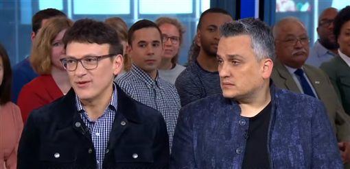 羅素兄弟為宣傳登上《GMA早安美國》節目受訪。(圖/翻攝自YouTube)