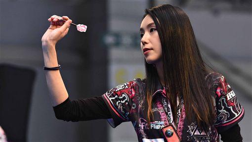 ▲香港職業女鏢手梁雨恩近來表現亮眼。(圖/大會提供)