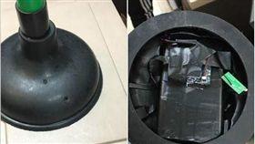 馬桶通便器藏針孔攝影機。(圖/翻攝自爆廢公社)
