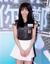 LamiGirls啦啦隊員Yuri。(記者/邱榮吉攝影)