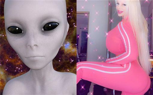 莎賓娜,阿根廷,AV女優,花花公子,外星人 (合成圖/取自Pixabay;IG)