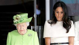 (圖/翻攝自推特)英國,王室,梅根,女王