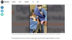 美國,雙胞胎女嬰出生時接生醫師手滑將女嬰頭摔在接生台(圖/翻攝自abc NEWS)