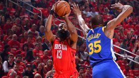 Kevin Durant與James Harden第3戰都攻下超過40分。(圖/翻攝自NBA官方推特)