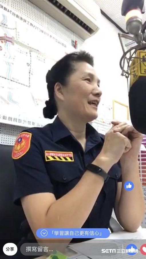 台中市警局交通大隊警務員柯翠絨/翻攝畫面