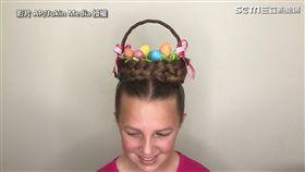 ▲Erin在4月1日上傳的新影片,以「Easter Basket(復活節籃子)」做為題材。(圖/AP/Jukin Media授權)