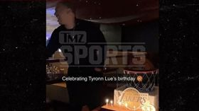 NBA/盧執教湖人?慶生蛋糕曝玄機 NBA,洛杉磯湖人,總教練,Tyronn Lue,LeBron James 翻攝自《TMZ》