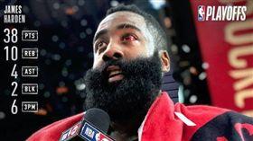 NBA/哈登38分 火箭2:2扳平 NBA,季後賽,休士頓火箭,James Harden 翻攝自NBA官方推特