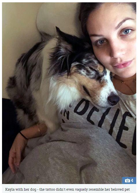 26歲正妹花2千「把愛犬紋上身」 半小時後一看超尷尬...(圖/翻攝自太陽報)
