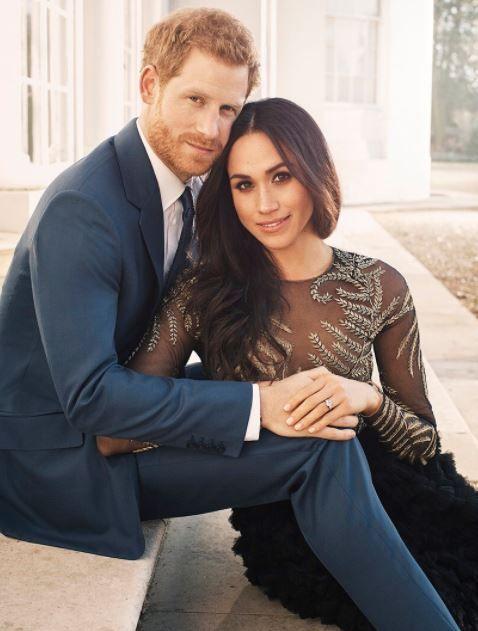 英國哈利王子跟老婆梅根(推特)