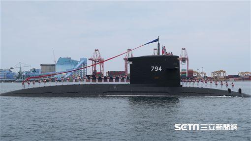 蔡英文總統9日到高雄台船公司重件碼頭,主持「潛艦國造廠區動土典禮」。(圖/記者盧素梅攝)