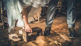 復古,婚紗,結婚。(圖/Pixabay)