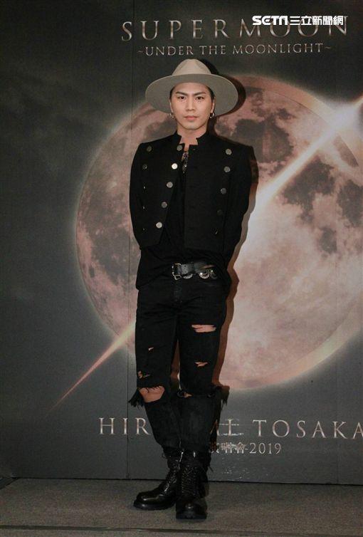登坂廣臣來台宣傳演唱會。(圖/記者邱榮吉攝影)