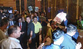 陳水扁遇反扁 抗議民眾遭驅離