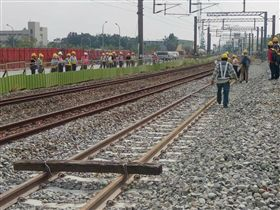 台鐵台南車站地下化軌道切換 台鐵提供