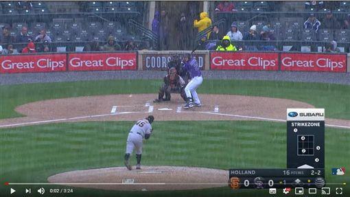 ▲洛磯、巨人大雪中開戰。(圖/翻攝自MLB YouTube)
