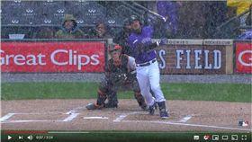 ▲洛磯亞瑞納多(Nolan Arenado)在大雪中開轟。(圖/翻攝自MLB YouTube)