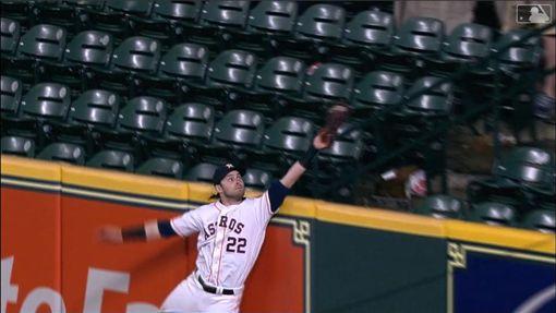 ▲太空人瑞迪克(Josh Reddick)沒收逆轉3分砲。(圖/翻攝自MLB官網)