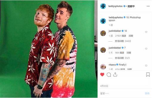 紅髮艾德推出新歌,再與小賈斯汀合作。(圖/翻攝自紅髮艾德IG)
