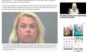 佛州潔西卡.史蒂文森(Jessica Stevenson)遭控5項虐兒罪名。(圖/翻攝自Newsweek)