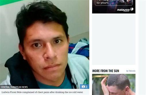 祕魯,運動員,冰水,猝死 (圖/翻攝自太陽報)