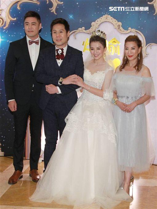 劉至翰出席三立製作人楊煥喻與江湧錡婚禮。(圖/記者邱榮吉攝影)