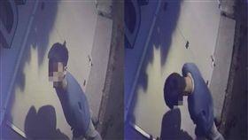 隔壁店家偷尿尿,過程全被監視器拍下。(圖/翻攝自宜蘭知識+)