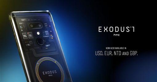 HTC,宏達電,EXODUS 1s,區塊鏈智慧手機,第3季,區塊鏈圖/翻攝自推特