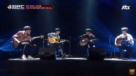 三把吉他加一把貝斯 神級表演釣出超大咖樂團:太讚了吧! Super Band,슈퍼밴드,Coldplay 圖/翻攝自JTBC Entertainment YouTube
