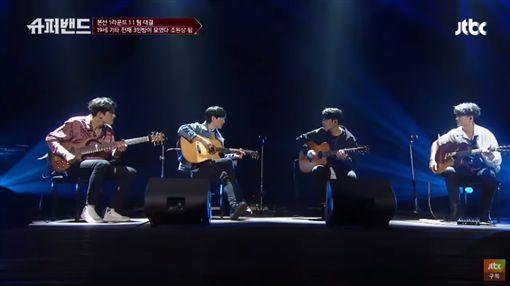 三把吉他加一把貝斯 神級表演釣出超大咖樂團:太讚了吧!Super Band,슈퍼밴드,Coldplay圖/翻攝自JTBC Entertainment YouTube