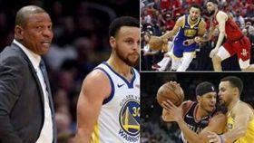 NBA/被詛咒?柯瑞連3輪撞自家人 NBA,季後賽,金州勇士,Stephen Curry,Seth Curry,Doc Rivers,Austin Rivers 翻攝自推特