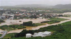 日本,淹水,與那國島,沖繩,大雨,災情,民眾, 圖/翻攝自推特 https://parg.co/QLp