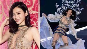 奚夢瑤身材黃金比例完美,網友表示難怪何猷君為她著迷。(圖/翻攝自微博)
