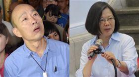 蔡英文,韓國瑜 圖/盧素梅攝影,高市府提供