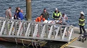 阿拉斯加水上飛機相撞事故。翻攝自citynews