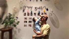 余文樂兒子余初見(Cody)1歲生日派對。