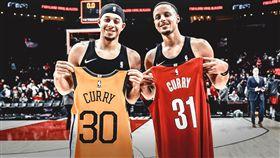 NBA/對決寫歷史!柯瑞兄弟說… NBA,季後賽,金州勇士,Stephen Curry,波特蘭拓荒者,Seth Curry 翻攝自推特