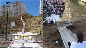 滑梯,受傷,西班牙,安全,規則,關閉,跌到,危險,滑水道, 圖/翻攝自推特
