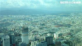 台北鳥瞰。(圖/記者蔡佩蓉攝影)