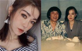 謝金燕在豬哥亮2周年忌日,貼出自己25年前跟爸爸的合照。IG