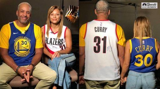 NBA/柯瑞兄弟對決 父母公平相挺 NBA,季後賽,金州勇士,Stephen Curry,波特蘭拓荒者,Seth Curry 翻攝自推特