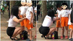 越南,幼稚園,老師,家長,接送(圖/翻攝自we25.vn網站)