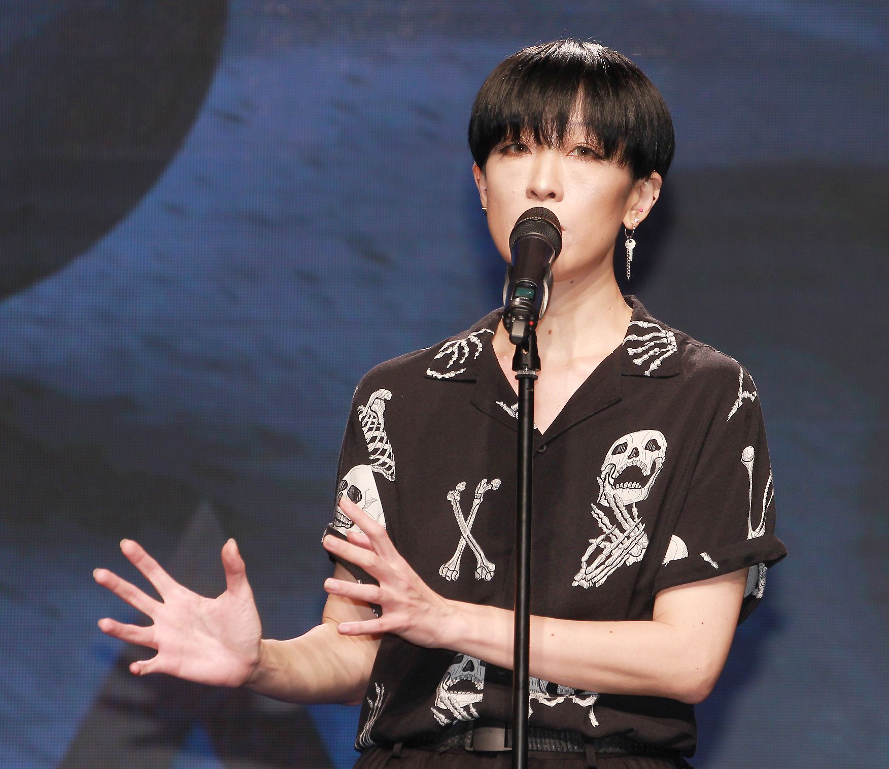 陳珊妮擔任第30屆金曲獎評審主席。(記者邱榮吉/攝影)